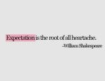 Expectation Heartache