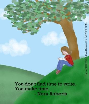 You don't find time to write