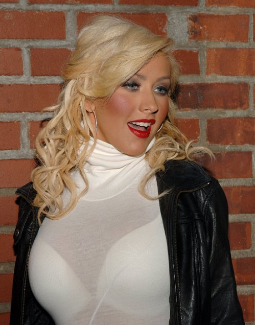 "Christina Aguilera ""Back to Basics"" After Party at Marquee in New York City"