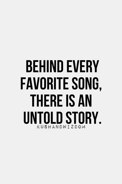 Behind every song