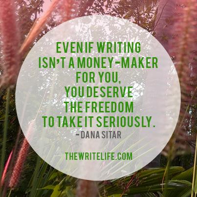 when writing isn't a money maker
