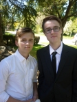 Hanging with Evan before heading off to his dry grad dinner/dance celebration