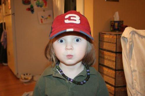 "Ava in her ""Ash"" cap"