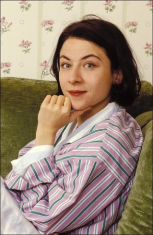 Donna Tartt in her Paris hotel room, promoting her book , The Goldfinch (Photo courtesy of theguardian.com)